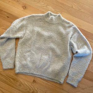 H&M fuzzy mock neck sweater XS NWT